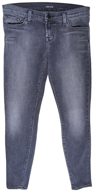 Item - Gray Dark Rinse Low Ankle In Faithful Skinny Jeans Size 25 (2, XS)
