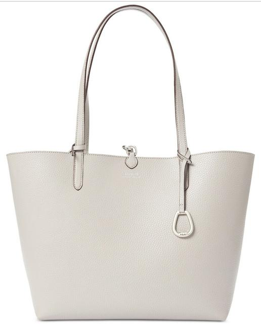 Item - Reversible Gray Faux Leather Tote