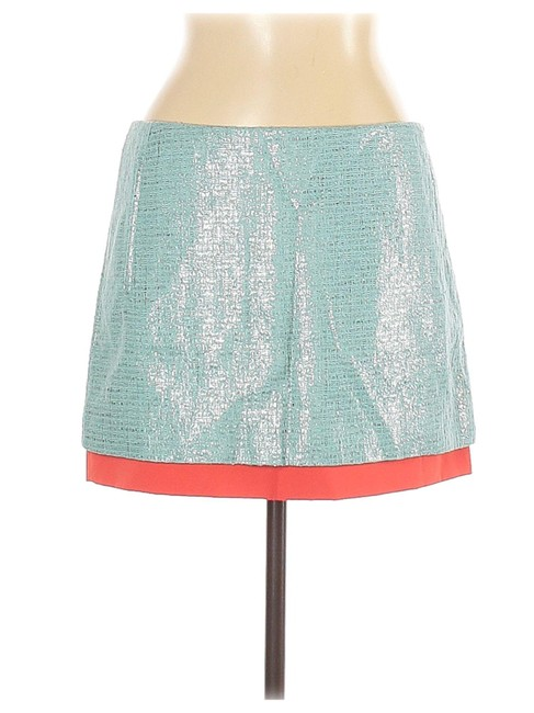 Item - Green Elley Layered Colorblock New Shimmer Women Skirt Size 10 (M, 31)