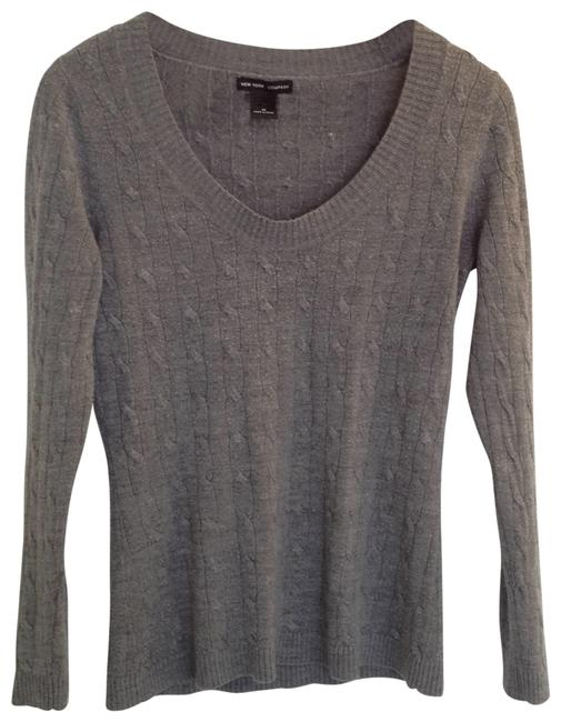 Preload https://item5.tradesy.com/images/new-york-and-company-grey-light-weight-cable-knit-sweaterpullover-size-8-m-28344-0-0.jpg?width=400&height=650