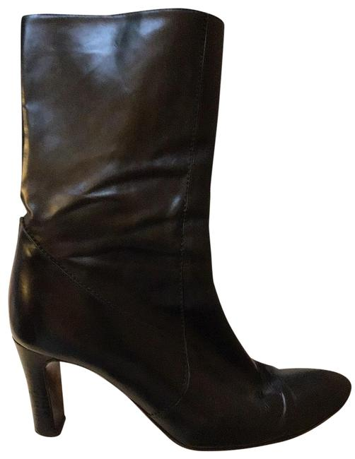 Item - Black Mid Rise Leather Boots Formal Shoes Size US 8 Regular (M, B)