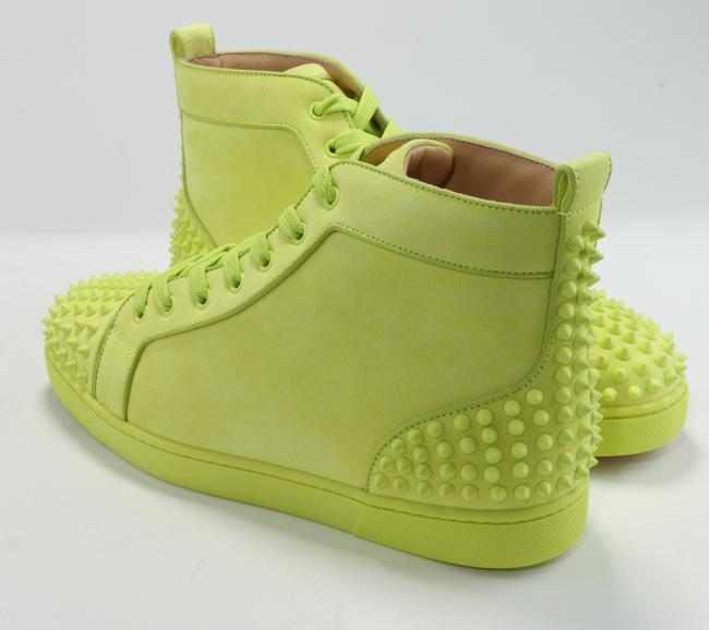 Christian Louboutin Yellow Lou Spikes Sneakers Shoes Christian Louboutin Yellow Lou Spikes Sneakers Shoes Image 3