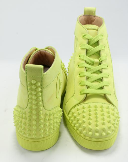 Christian Louboutin Yellow Lou Spikes Sneakers Shoes Christian Louboutin Yellow Lou Spikes Sneakers Shoes Image 4