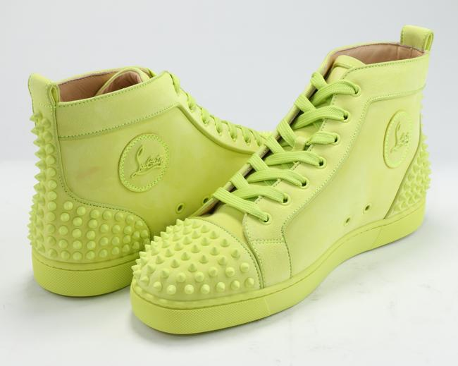 Christian Louboutin Yellow Lou Spikes Sneakers Shoes Christian Louboutin Yellow Lou Spikes Sneakers Shoes Image 5