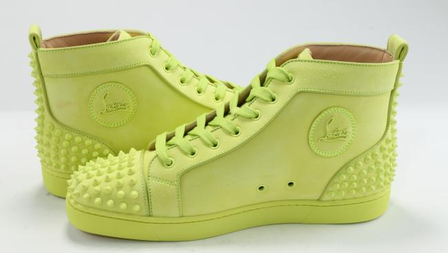 Christian Louboutin Yellow Lou Spikes Sneakers Shoes Christian Louboutin Yellow Lou Spikes Sneakers Shoes Image 6