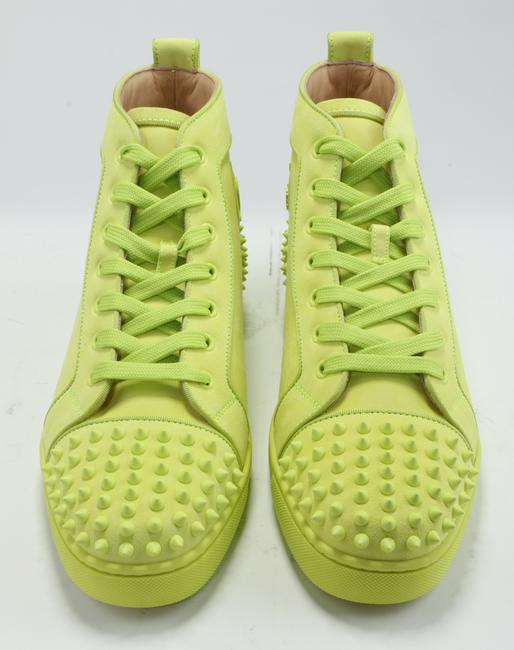 Christian Louboutin Yellow Lou Spikes Sneakers Shoes Christian Louboutin Yellow Lou Spikes Sneakers Shoes Image 7