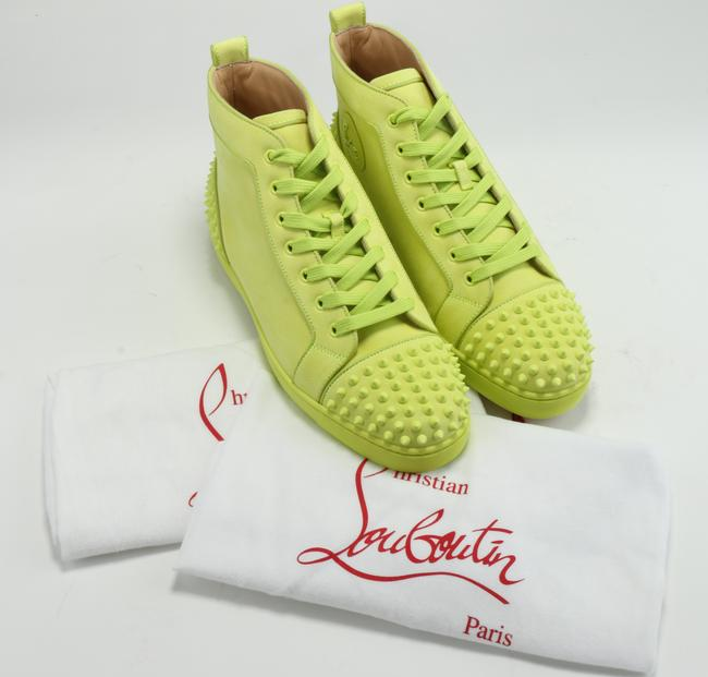 Christian Louboutin Yellow Lou Spikes Sneakers Shoes Christian Louboutin Yellow Lou Spikes Sneakers Shoes Image 10