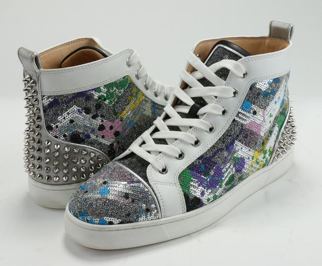 Item - Multicolor Lou Spikes Iii Rainbow Sequin High-top Sneakers Shoes