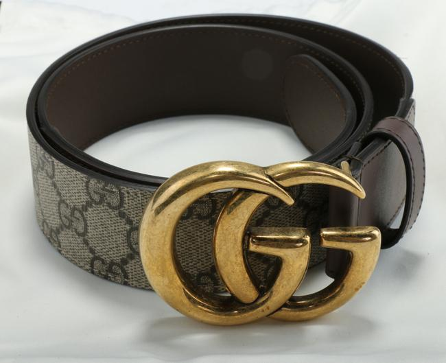 Item - Brown Gg Supreme Belt with G Buckle Men's Jewelry/Accessory