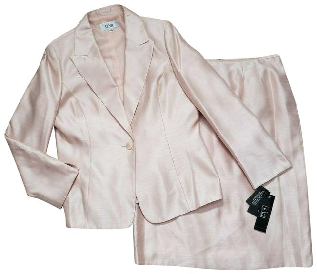 Item - Pink 2pc Blazer One Button Career Business Skirt Suit Size 14 (L)