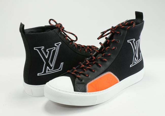 Item - Black/Orange Tattoo Sneaker Boot Shoes