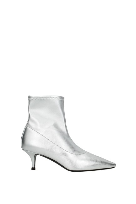 Item - Silver Ankle Women Boots/Booties Size EU 37.5 (Approx. US 7.5) Regular (M, B)