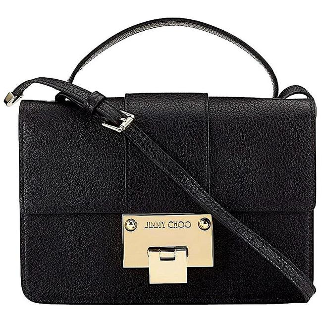 Item - Grainy Black/Gold with Tag Leather Cross Body Bag