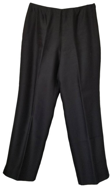 Item - Black Silk Dress Flat Front Fully Lined Pants Size 10 (M, 31)