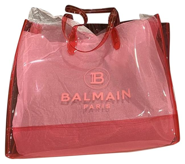 Item - Transparent Pink Pvc Tote