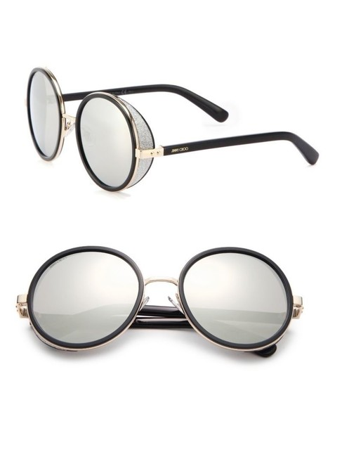 Item - Gold Black Jc Andie J7q M3 Round Mirror Lens Sunglasses
