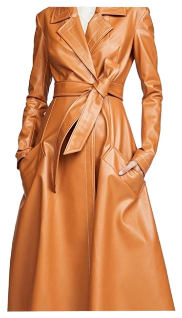 Item - Brown Faux Leather Coat Size 0 (XS)