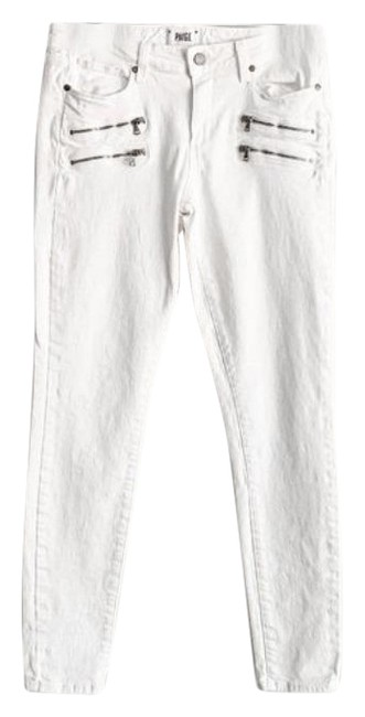 Item - White Silver Light Wash Edgemont Super Skinny Jeans Size 31 (6, M)