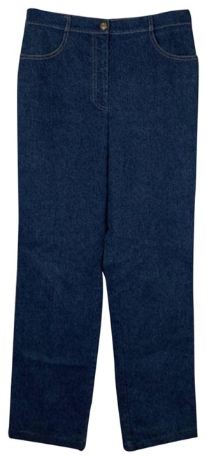 Item - Blue Medium Wash Collection 10 Straight Leg Jeans Size 33 (10, M)