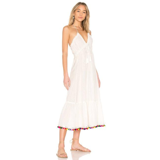 Item - White Cecily Ivory Tie Halter Midi Womens Small Msrp Casual Maxi Dress Size 4 (S)