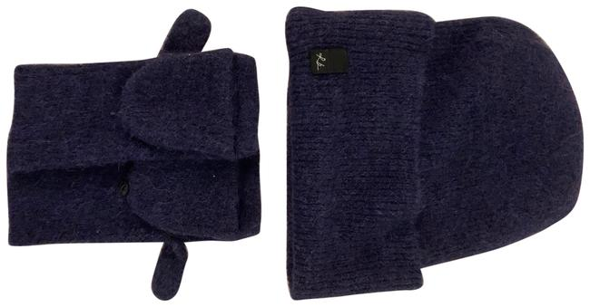 Item - Dark Navy Beanie and Gloves Set Hat