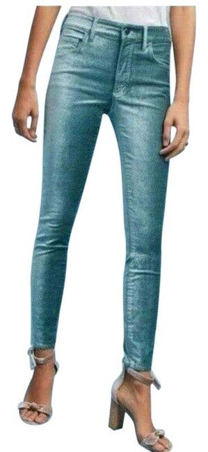 Item - Pilcro and The Letterpress Blue Light Wash Velvet High Rise Skinny Jeans Size 25 (2, XS)