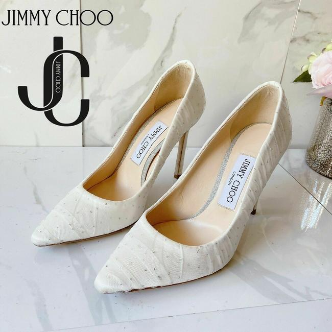 Item - White Romy 85 Pumps Size US 6 Regular (M, B)