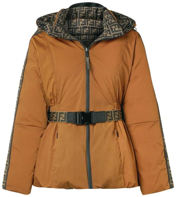 Item - Brown Reversible Padded Printed Jacket Coat Size 2 (XS)