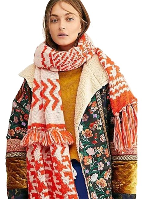 Item - Red White Mile High Blanket Scarf/Wrap