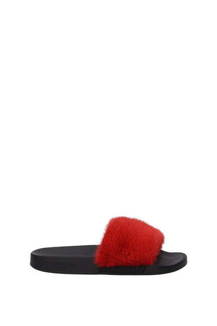 Givenchy Red Slippers and Woman Mules/Slides Size EU 36 (Approx. US 6) Regular (M, B) Givenchy Red Slippers and Woman Mules/Slides Size EU 36 (Approx. US 6) Regular (M, B) Image 1