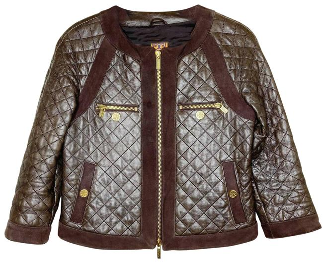 Item - Brown Quilted Suede Panel Jacket Size 4 (S)