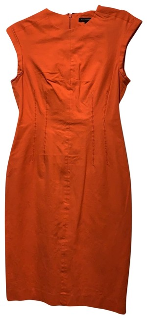 Item - Orange-red Mid-length Cocktail Dress Size 6 (S)