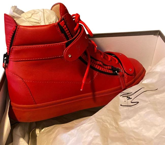 Item - Red Sneakers Formal Shoes Size EU 38 (Approx. US 8) Regular (M, B)