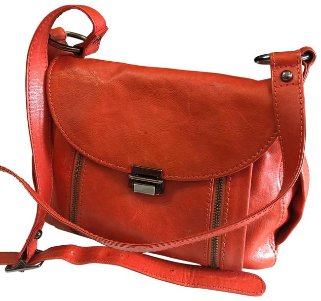 Item - Crossbody Red Leather Hobo Bag