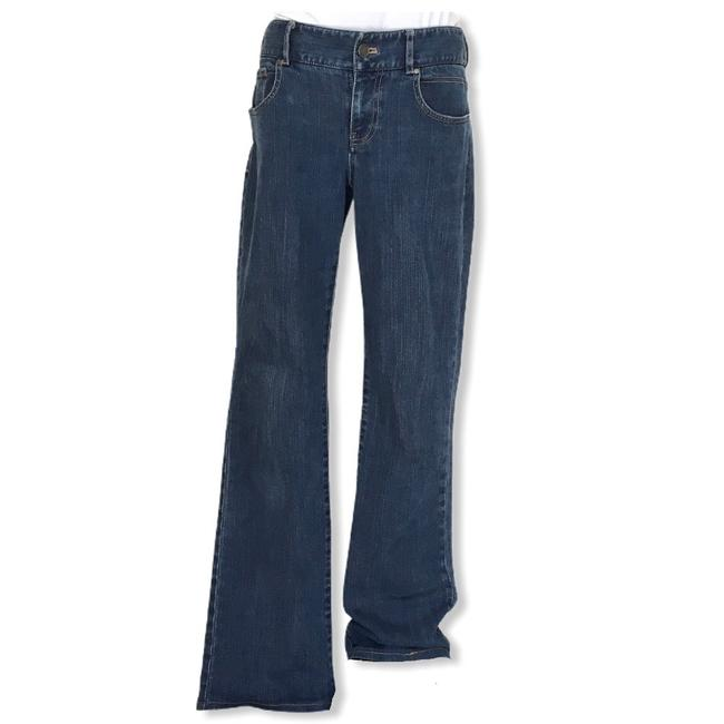 Tahari Blue Medium Wash Boot Cut Jeans Size 4 (S, 27) Tahari Blue Medium Wash Boot Cut Jeans Size 4 (S, 27) Image 1