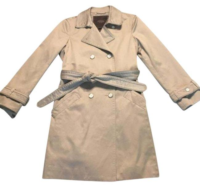 Item - Tan Double Breasted Coat Size 8 (M)
