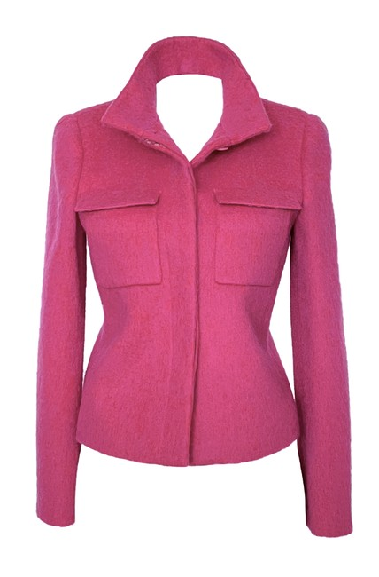Item - Pink Wool and Mohair In Magenta Very Pretty New Jacket Size 4 (S)