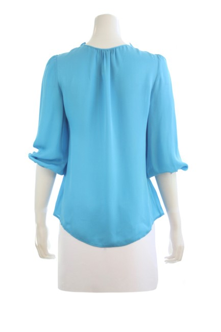 Item - Blue Annie Silk Small Blouse Size 4 (S)