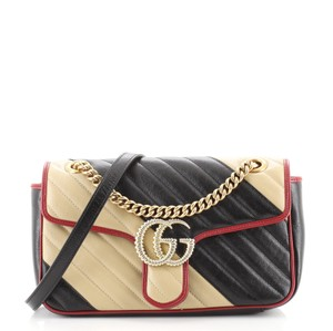 Item - Flap Marmont Gg Diagonal Quilted Leather Sma Small Shoulder Bag