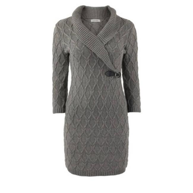 Item - Gray Nwot Sweater Mid-length Short Casual Dress Size 4 (S)