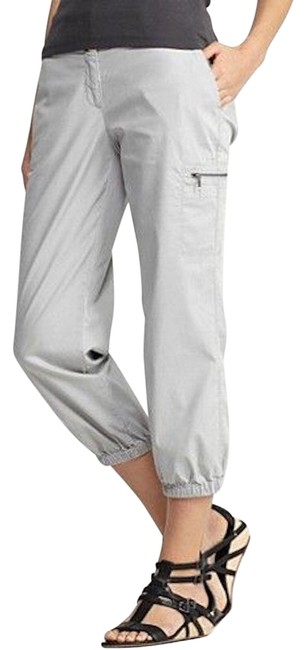 Eileen Fisher Silver Cropped Cargo Cotton Tencel Twill Pants Size 26 (Plus 3x) Eileen Fisher Silver Cropped Cargo Cotton Tencel Twill Pants Size 26 (Plus 3x) Image 1