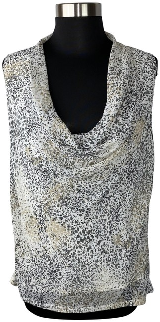 Item - Multicolor Sleeveless Roll Neck Blouse Size 8 (M)