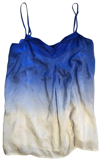 Item - Blue and White Silk Ombré Tank Top/Cami Size 16 (XL, Plus 0x)