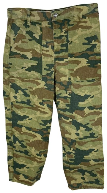Item - Green Remy Camouflage Pants 31 Straight Leg Jeans Size 10 (M, 31)