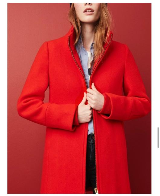 Item - Red Cocoon Coat Size 0 (XS)