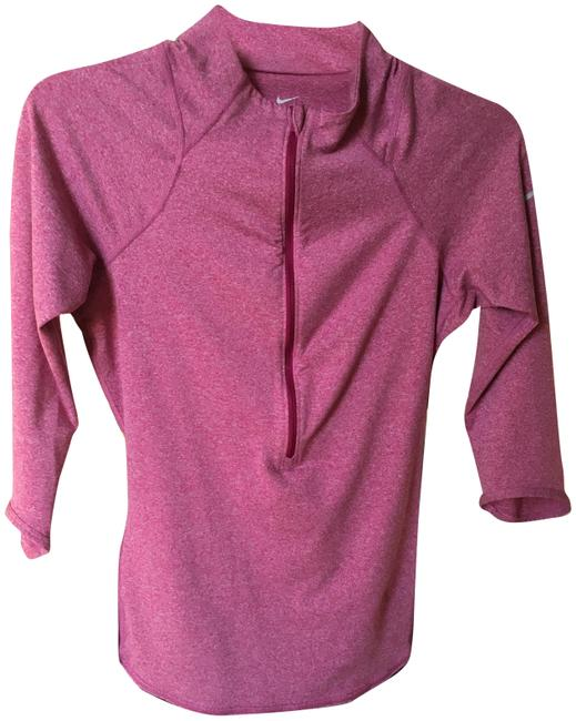 Item - Pink Dri-fit 1/2 Zip Shirt Activewear Top Size 4 (S)
