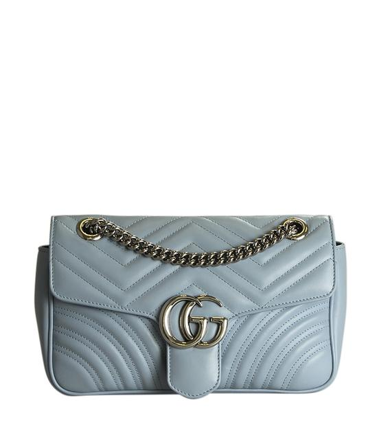 Item - Marmont 443497 Small Matelasse (191665) Blue Lambskin Leather Cross Body Bag