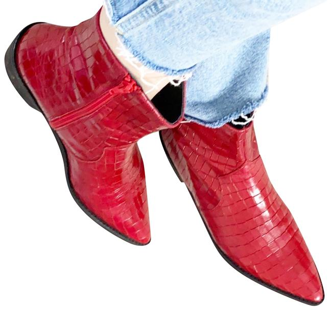 Item - Red Crocodile Boots/Booties Size US 7.5 Regular (M, B)