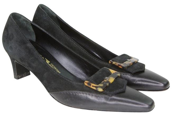 Item - Black Leather Suede Tortoiseshell Heels Aa Pumps Size US 8 Narrow (Aa, N)