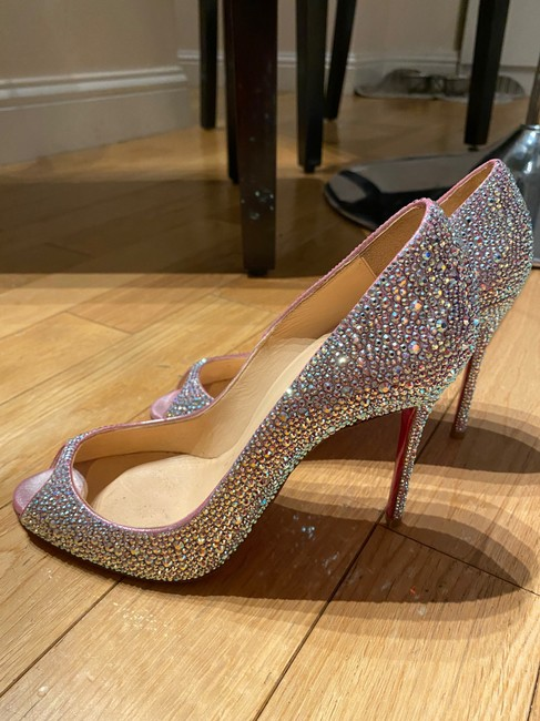 Item - Silver Very Rear Model with Cristalli Swarovski Pumps Size US 8.5 Regular (M, B)